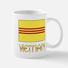 S. Vietnam Flag & Name Black Mug