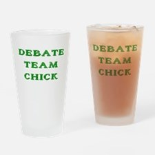 Debate Team Chick (Bold) Drinking Glass