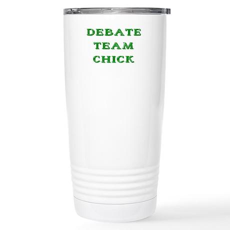 Debate Team Chick (Bold) Stainless Steel Travel Mu