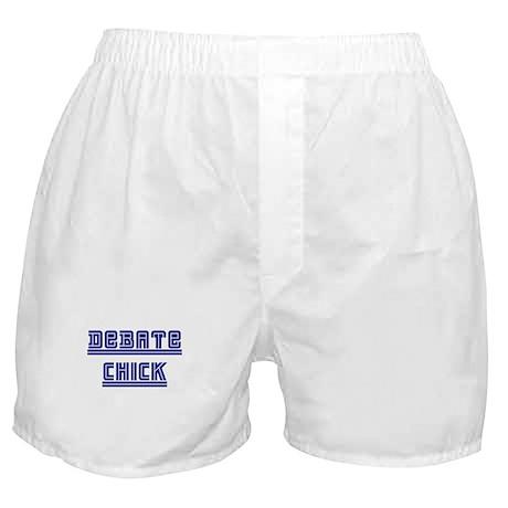 Debate Chick Boxer Shorts