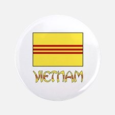 "S. Vietnam Flag & Name Black 3.5"" Button (100 pack"