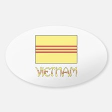 S. Vietnam Flag & Name Black Decal
