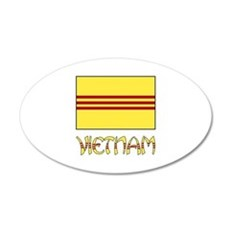 S. Vietnam Flag & Name Black Wall Decal