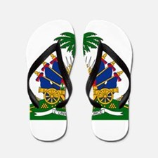 Haiti Coat Of Arms Flip Flops
