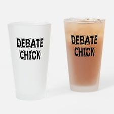 Debate Chick Drinking Glass
