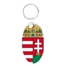 Hungary Coat Of Arms Aluminum Oval Keychain