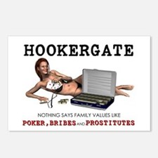 Hookergate Family Values Postcards (Package of 8)