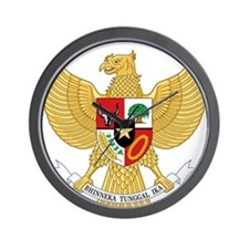 Indonesia Coat Of Arms Wall Clock