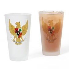 Indonesia Coat Of Arms Drinking Glass
