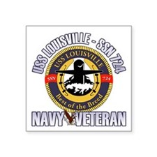 "Navy Veteran SSN-724 Square Sticker 3"" x 3"""
