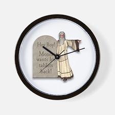 Moses Ten Commandments Wall Clock