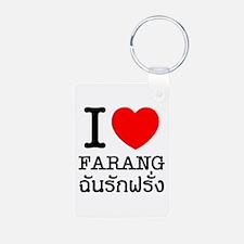 I Heart (Love) Farang Keychains