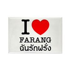 I Heart (Love) Farang Rectangle Magnet