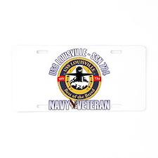 Navy Veteran SSN-724 Aluminum License Plate