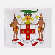 Jamaica Coat Of Arms Throw Blanket