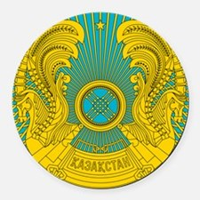 Kazakhstan Coat Of Arms Round Car Magnet