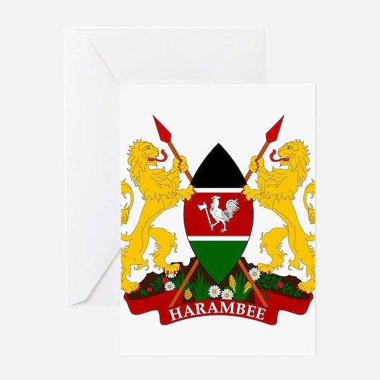 Kenya Coat Of Arms Greeting Card