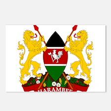 Kenya Coat Of Arms Postcards (Package of 8)