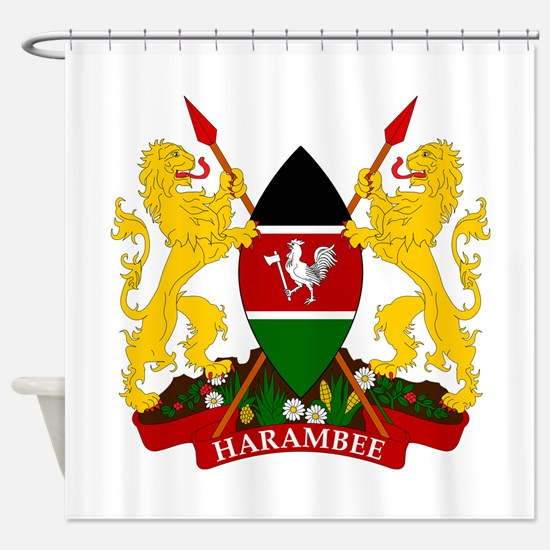 kenya coat of arms shower curtain - Bathroom Accessories Kenya