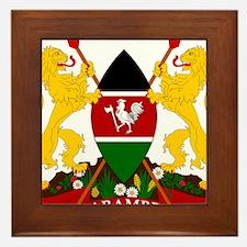 Kenya Coat Of Arms Framed Tile
