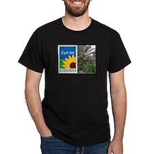 Eye on Gardening Tropical Plants Black T-Shirt
