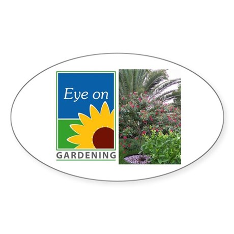 Eye on Gardening Tropical Plants Oval Sticker