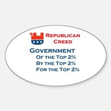 Republican Creed Oval Decal