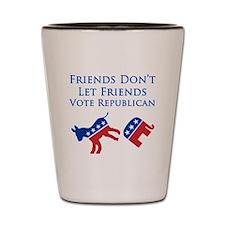 Democrat Friends Shot Glass