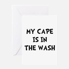 Cape In Wash Black Greeting Card