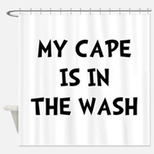 Cape In Wash Black Shower Curtain