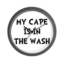 Cape In Wash Black Wall Clock