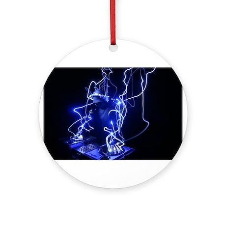 Hey DJ decks.jpg Ornament (Round)