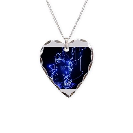 Hey DJ decks.jpg Necklace Heart Charm