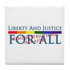 Liberty And Justice For All Tile Coaster