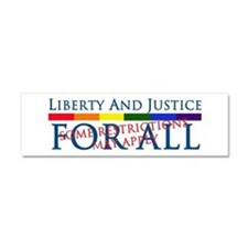 Liberty And Justice For All Car Magnet 10 x 3