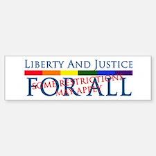 Liberty And Justice For All Bumper Bumper Bumper Sticker