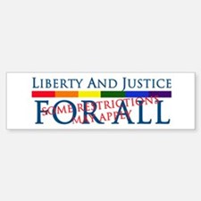 Liberty And Justice For All Bumper Car Car Sticker