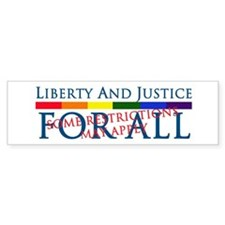 Liberty And Justice For All Bumper Car Sticker