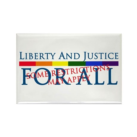 Liberty And Justice For All Rectangle Magnet