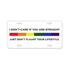 Flaunt Your Lifestyle Aluminum License Plate
