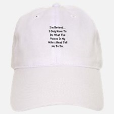 Retired Wife Voices Black Baseball Baseball Cap