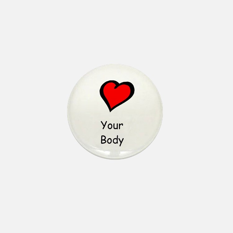 Cute Support anorexia awareness month eating disorder Mini Button