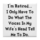 Husband retirement Tile Coasters