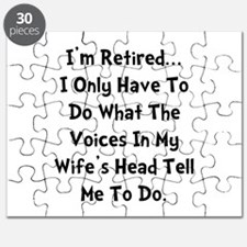 Retired Wife Voices Black Puzzle