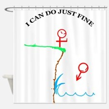 just fine wo bkgrnd.png Shower Curtain