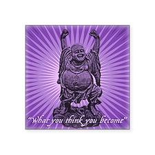 "Buddha Smiles Square Sticker 3"" x 3"""