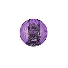 Buddha Smiles Mini Button