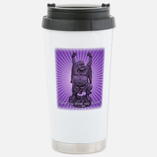 Buddha Smiles Stainless Steel Travel Mug