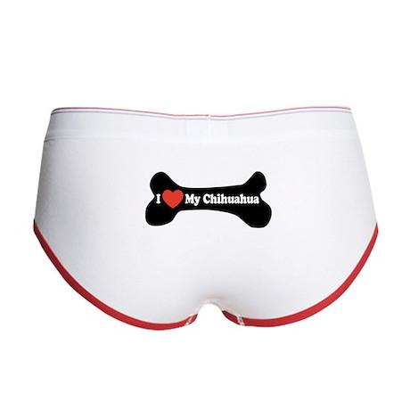 I Love My Chihuahua - Dog Bone Women's Boy Brief