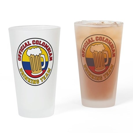 Colombian Drinking Team Drinking Glass